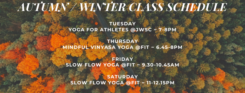 AUTUMN _ WINTER CLASS SCHEDULE yoga only